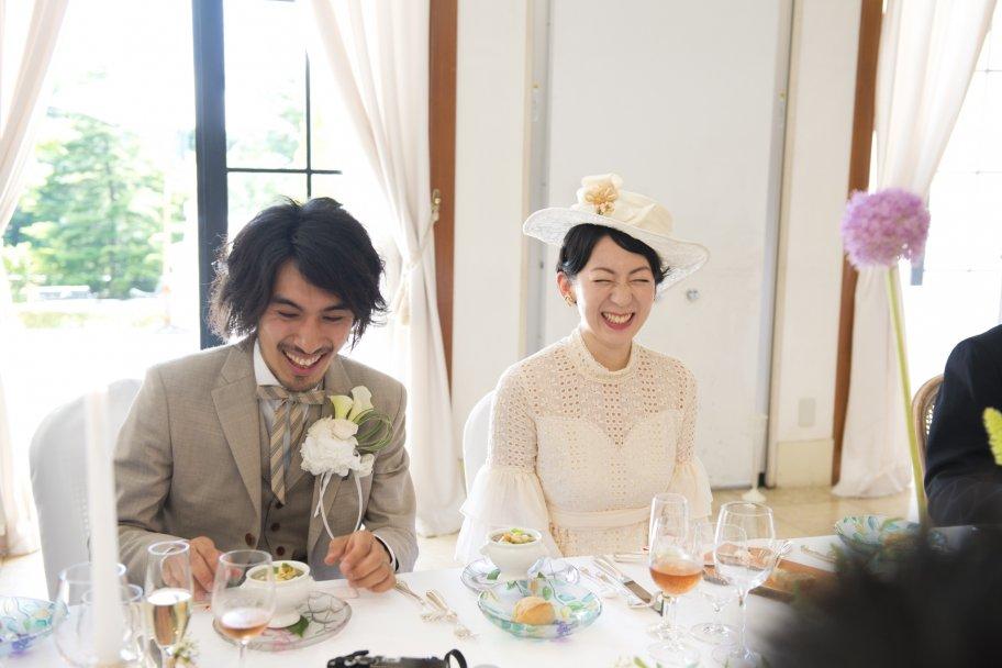 ご自身たちもお食事をゆっくり楽しみたい!と、仰っていたおふたり♪ご希望がかなってよかったです!